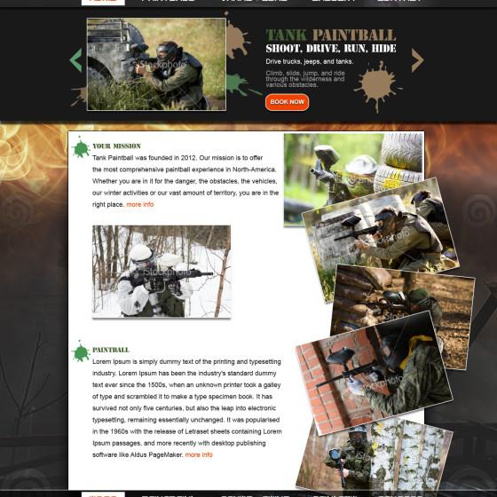 Tank Paintball Website Design