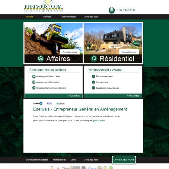 Edelweis Website Design & Keyword Analysis