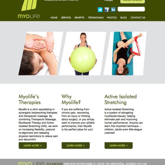 Myolife Website Design & Onpage SEO